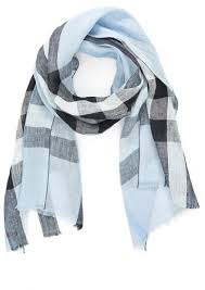 light blue burberry scarf burberry exploded check linen scarf where to buy how to wear