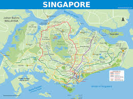 Singapore Map Asia by World Robot Games