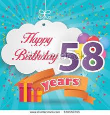83 rd birthday celebration greeting card stock vector 678543502