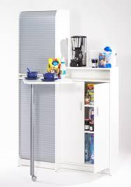 plateau tournant meuble cuisine meuble de cuisine à rideau avec plateau pivotant blanc gris snack