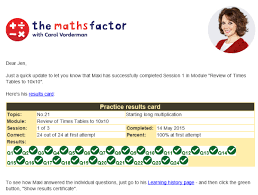 a months trial of the maths factor for kids for 1 mum in the