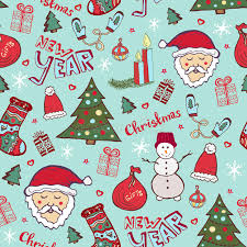 unique christmas wrapping paper bright christmas pattern new year doodle seamless texture