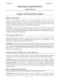 international corporate finance solution manual current account