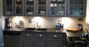 Two Toned Painted Kitchen Cabinets Endearing Sample Of Enthrall Likableduwur Prominent Enthrall