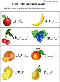 english crossword vocabulary building fruits and vegetables http