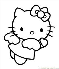 hellokittycoloringpage coloring free kitty coloring