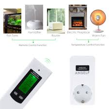 anself rf 433mhz wireless thermostat plug lcd remote control sales