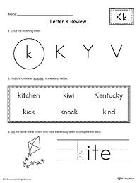 letter case recognition worksheet letter k myteachingstation com