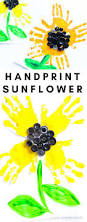easy handprint sunflower craft arty crafty kids