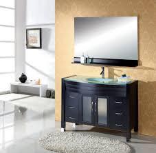 incredible square black teak wood single sink bathroom vanity five