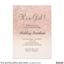 Shop Invitation Card Modern Faux Rose Gold Glitter Sweet 16 Birthday Invitations