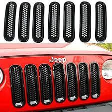 Rugged Ridge Grille Inserts Jeep Jk Amazon Com Rugged Ridge 11306 30 Black Grille Insert Automotive