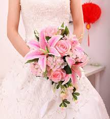 wedding flowers pink new arrival pink ivory silk wedding bouquets bridal bouquets
