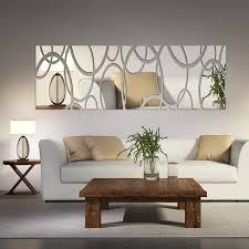 mirror decals home decor acrylic mirror wall decor art 3d diy wall stickers living room