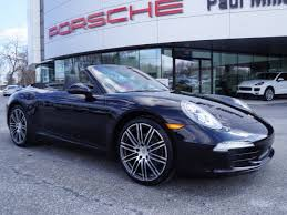 black porsche convertible certified pre owned 2016 porsche 911 carrera black edition