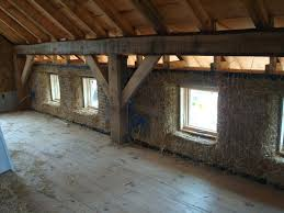 exposed interior timber frame or post and beam