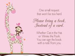 Baby Invitation Card New Baby Shower Invitations Bring A Book Instead Of Card 77 For