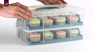 cup cake holder andrew two tier cupcake carrier