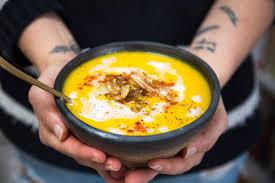 butternut squash apple soup with crispy leeks vegan paleo