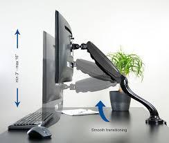 amazon com vivo single lcd monitor desktop mount stand black