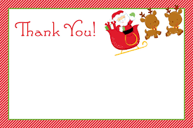 christmas thank you cards printable christmas thank you cards happy holidays