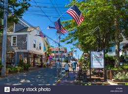 commercial street the main street provincetown cape cod stock