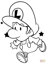 baby luigi coloring free printable coloring pages