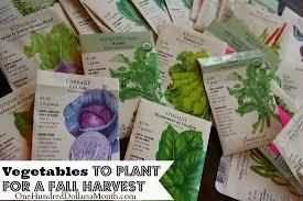 Fall Vegetable Garden Plants by Garden Plants In Fall Pdf