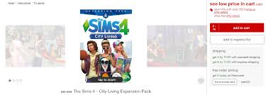 target black friday supernatural target sale purchase the sims 4 city living for 20 simsvip