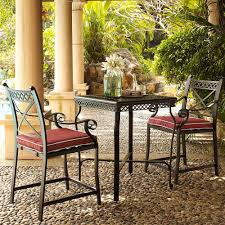 Patio Furniture Bar Height Set - amazon com crosley furniture portofino 3 piece outdoor aluminum