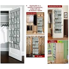 over the door shoe organizers 24 pockets and hanging closet