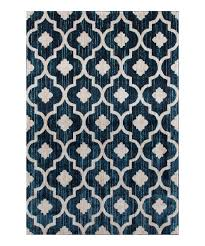world rug gallery blue u0026 white moroccan trellis rug zulily