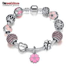 silver charm bead bracelet images Hot sale lzeshine antique silver charm bracelet bangle with love jpg