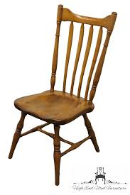 Colonial Dining Room Chairs by High End Used Furniture Cushman Colonial Rock Maple Catkinback