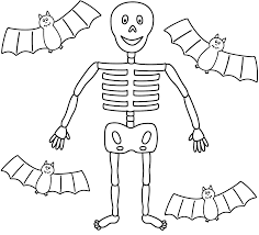 skeleton coloring page halloween skeleton coloring pages
