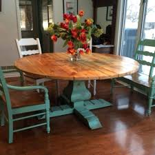 round farmhouse kitchen table round farmhouse kitchen table and chairs reclaimed wood round urn