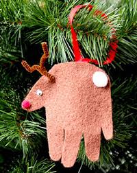 handprint reindeer ornament things to make and do crafts and