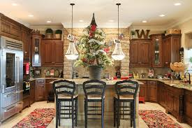 decorate above cabinet kitchen traditional with dark wood cabinet