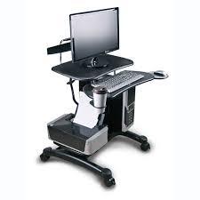Adjustable Mobile Rolling Laptop Desk by Computer And Laptop Carts Rolling Laptop Desk Organize It