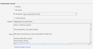 online confirmation class online class registration confirmation email sportlogic support