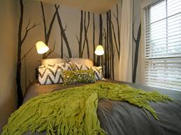 Green And Purple Home Decor by Lovely Green And Gray Bedroom For Small Home Decor Inspiration