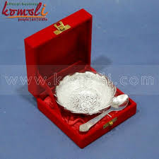 silver plated baby gifts leaf design silver plated brass bowl set baby shower gifts
