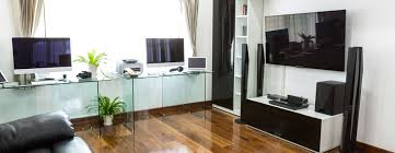 home office with tv tv stands office curios desks books cases chairs