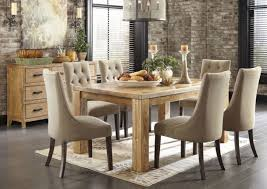 Fabric Chairs For Dining Room Dining Room Captivating Contemporary Dining Room With Light Brown