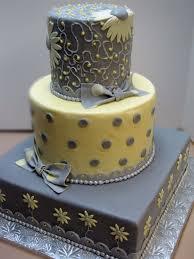 gray and yellow wedding cake someday pinterest yellow