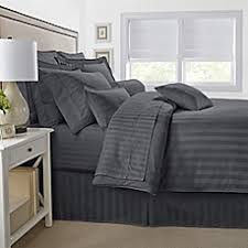 Cannon Comforter Sets 500 Thread Count Damask Stripe Reversible Comforter Set Bed Bath