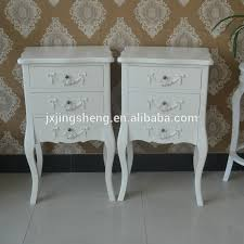french country style ivory nightstand unique wooden chest of 3