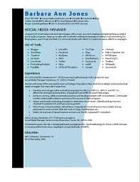 Sample Resume For Digital Marketing Manager by Download Social Media Manager Resume Sample Haadyaooverbayresort Com