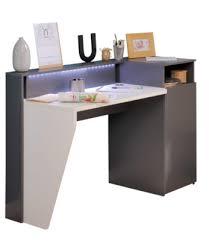 bureau connecté bureau led connecté technologik gris et blanc bureaux but