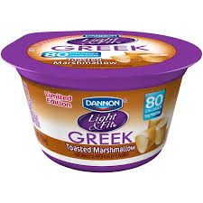 dannon light and fit greek dannon light fit toasted marshmallow nonfat yogurt 5 3 oz